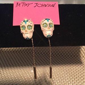 💕$15 SALE Betsey Johnson Bling Skulls